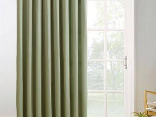 Sun Zero Hayden Grommet Blackout Patio Door Window Curtain Panel Set of 2