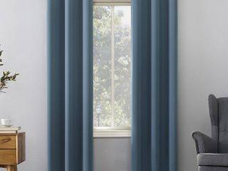 Sun Zero Hayden Energy Saving Blackout Grommet Curtain Panel Set