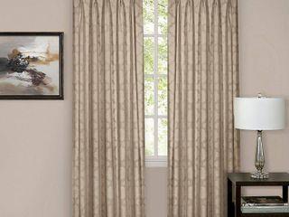 Achim Windsor Pinch Pleat Window Curtain Panel Set Tan