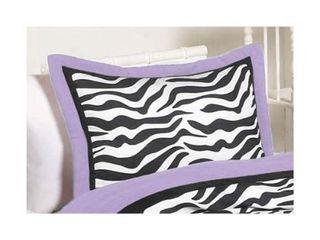 Sweet Jojo Designs Purple Funky Zebra 3 piece Full Queen Comforter Set  Retail 119 99