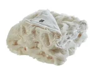 Akela 50 x60  Stitched Faux Fur Throw  Retail 84 99
