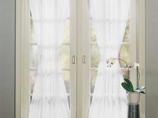 No  918 Sheer Voile 59  x 40  Door Curtain Panel Set
