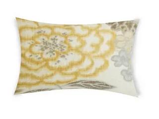 Aileen lumbar Throw Pillow Nude Floral