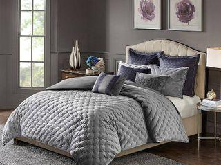 Madison Park Signature Sophisticate Queen Velvet Comforter Set Bedding