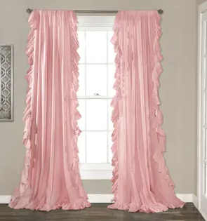 The Gray Barn Gila Curtain Panels Pair Pink