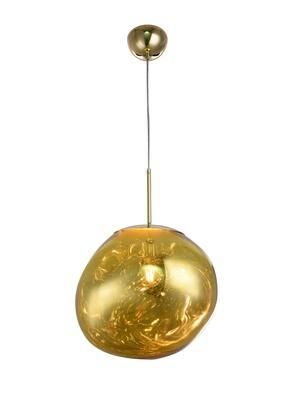 Gold Acrylic Shade Single Pendant lighting  Retail 188 99
