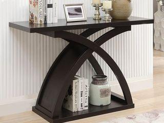 Furniture of America Moa Contemporary Espresso Wood Sofa Table  Retail 268 49