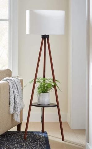 Adesso Walnut Unique Tripod Floor lamp  Retail