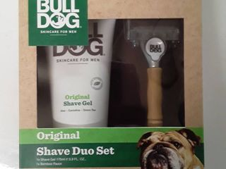 Bulldog Original Skincare For Men Shave Duo Set Shave Gel And Bamboo Razor
