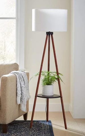 Adesso Walnut Unique Tripod Floor lamp  Retail 113 49