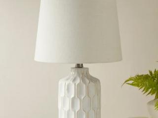 Carson Carrington Utena Ivory Table lamp   11 5 W x 11 5 D x 22 H  Retail 76 48