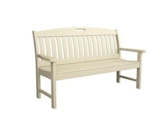60 in  Sand Plastic Outdoor Patio Bench