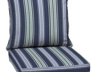 Aurora Stripe Deep Seat Outdoor Cushion Set Sapphire   Arden Selections