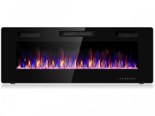 50  Electric Fireplace Recessed Ultra Thin Wall Mounted Heater