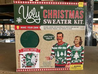 The Ugly Christmas Sweater Kit Men Multi Stripe Sleeve  Red 3 Stripes  Xx large