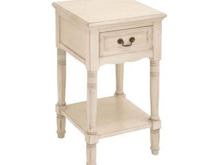 Decmode   29 X 16 Inch Classic White Wooden Side Table