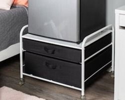 Fridge Stand Supreme   White with Black Drawers   23 2 W x 22 D x 21 3 H  Retail 89 99