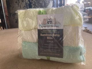 6 Pack Brooklyn Bamboo   Bamboo Baby Bibs