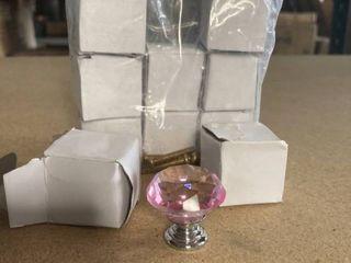 10 pc 30mm Pink Jewel Drawer handles