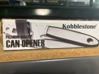Kobblestone Premium Quality Black and Silver Can Opener