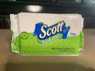 Scott Naturals 51 Flushable Cleansing Cloths