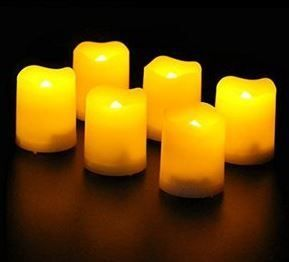 Frostfire 6 Weatherproof Candles with Timer