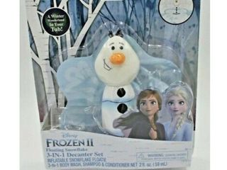 Disney Frozen Ii Olaf Floating leaf 3 in 1 Body Wash Shampoo Decanter Set