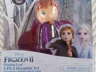Frozen 2 Anna Floatie Snowflake 3in1 Decanter Set Body Wash Shampoo Conditioner