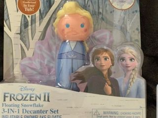 Disney Frozen 2 Elsa Floating 3n1 Bath Gel Soap Set Inflatable Snowflake Toy Fun