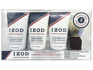 IZOD Mens Perform X 4 pc  Shave Set One Size Blue white