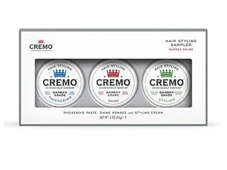 Cremo Cream Barber Grade Hair Styling Sampler   2 0 oz x 3 pack