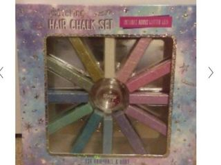 Glittering Hair Chalk Set 1m2 Colors  For Hair  Face   Body  Sealed  4a1