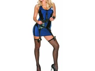 Extra Small Delicious Arresting Beauty Costume  Blue Black  X Small