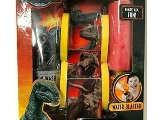 Jurassic World Water Bath Blaster  4 Foam Targets   Body Wash