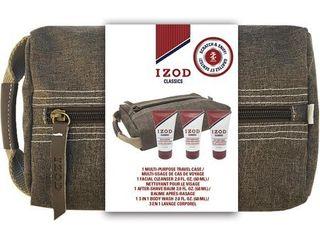 IZOD Mens Classics 4 pc  Travel Case Set One Size Multi