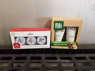 2 GIFT SETS OF CREMO HAIR STYlING SAMPlER AND BUll DOG SKINCARE DUO SET