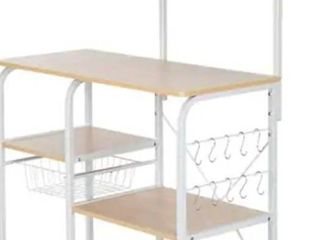 35 5  Kitchen Baker s Rack Utility Storage Shelf Microwave Stand Workstation with 10 Hooks 4 Tier  Retail 95 99