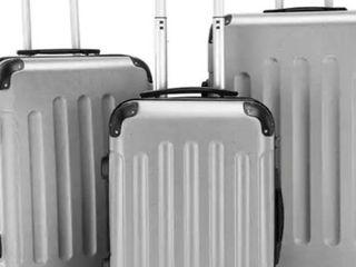 3 Piece Set Suitcase Spinner Hardshell lightweight TSA lock  20    24    28  Retail 107 99
