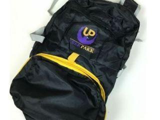Uber Pakk Black and Yellow Foldable Zipper Backpack