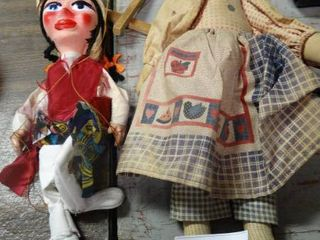 lot of 2 homemade Dolls