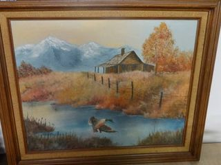 Cabin on the Creek Painting