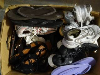 Box of Various Women s Shoes