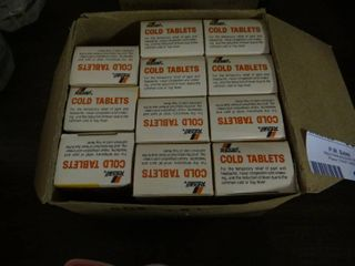lot of 11 Cold Tablets Bottles