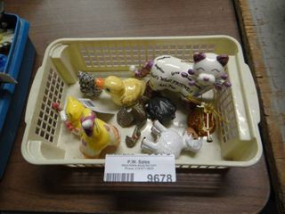 Basket of Small Animal Decor