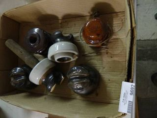 Brown Ceramic   Porcelain Telephone Pole Insulators