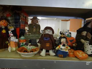 lot of Fall and Halloween Decor