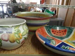 large Ceramic Serving Bowl  Planter and Serving Dish