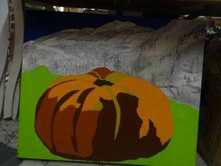 large Pumpkin Painting