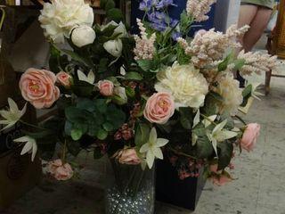large Vase of Faux Flowers
