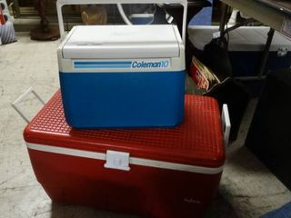 Coleman and Igloo Coolers